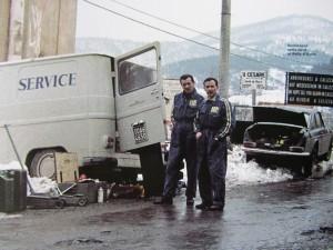 Rallye d`Italia 1971: Mechaniker im Schnee